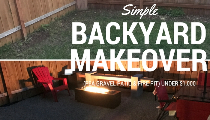 SIMPLE DIY BACKYARD MAKEOVER (PEA GRAVEL PATIO & FIRE PIT