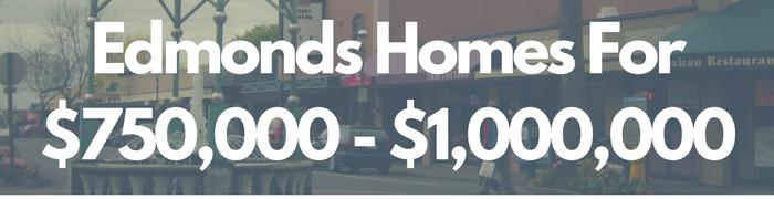 Edmonds WA Homes for sale $750,000 - $1,000,000. Search PersingerGroup.com to find Edmonds WA Real Estate.