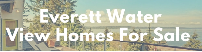 Everett water view homes for sales. Real estate property with a waterview.