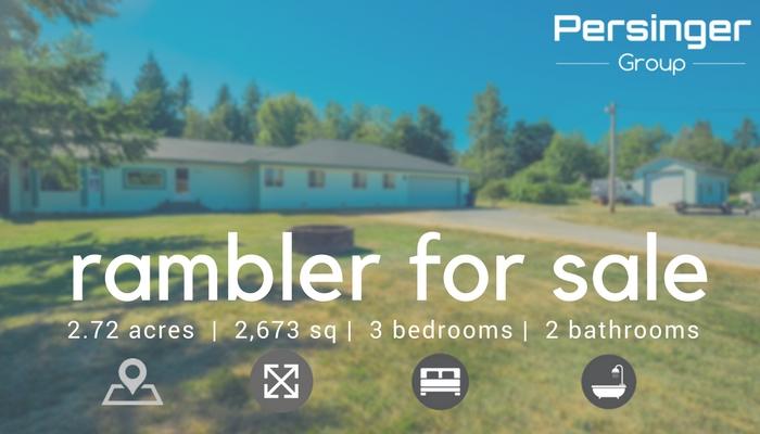Lake Stevens Rambler for sale, on acreage with 3 bedrooms, Lake Stevens real estate experts PersingerGroup.com