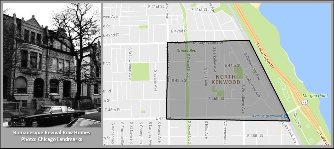 North Kenwood Landmark District Homes For Sale - Kenwood chicago map
