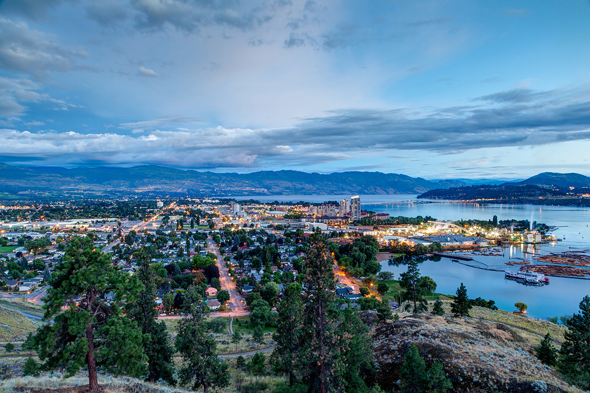 most scenic city in North America - Kelowna