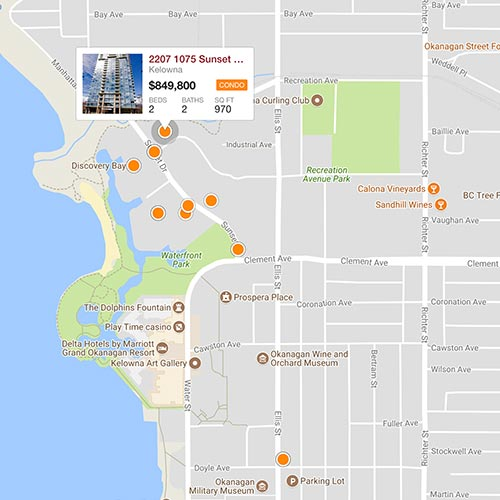 kelowna mls condos map