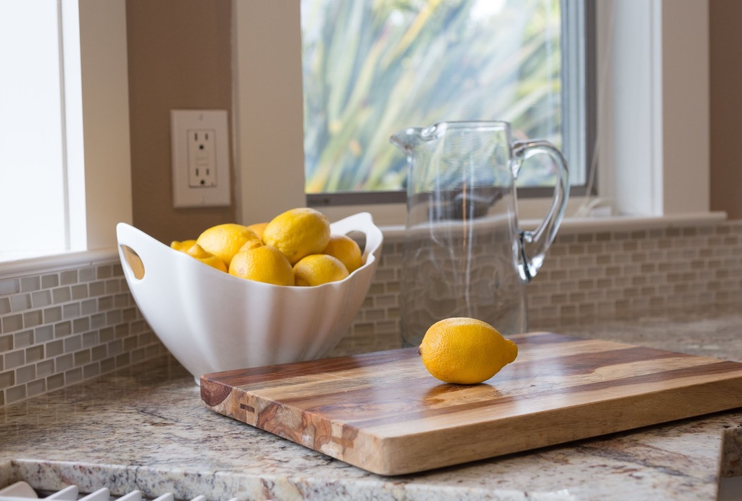 Bowl of Lemons on Kitchen Counter. Heart of the Home Brining Spring Into Your Home