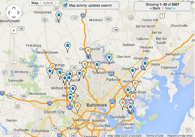 Baltimore County Home Search