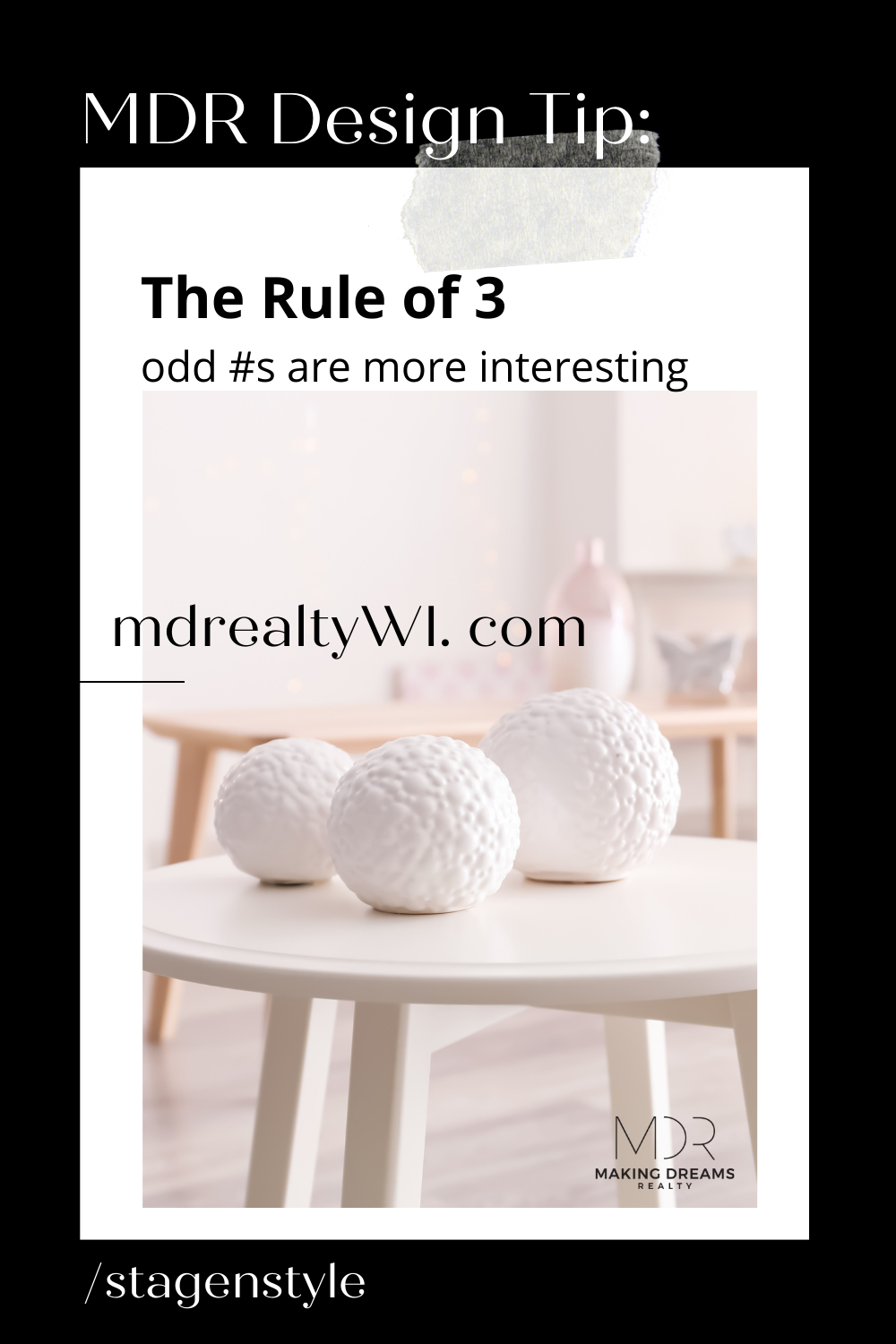 MDR Quick Design Tip: The Rule of 3