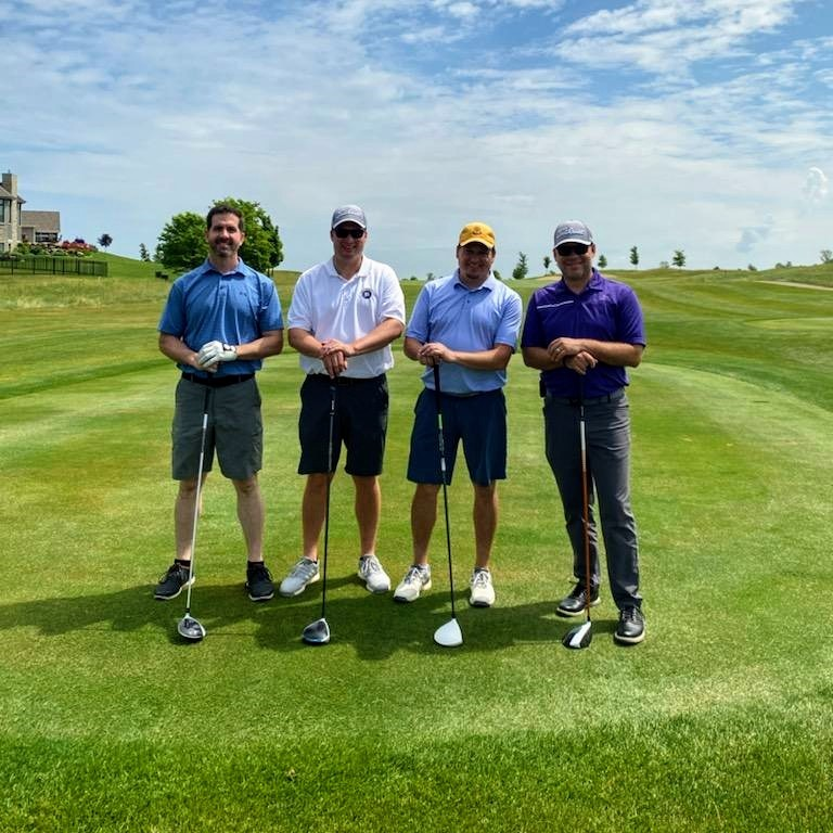 Ryan and Kevin Golf Outing MAING DREAMS Realty Sponsor