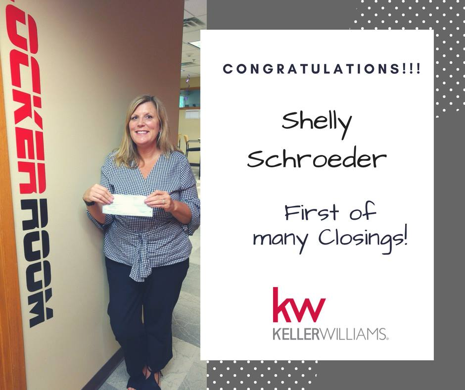 Shelly's first closing with MAKING DREAMS Realty and Keller Williams