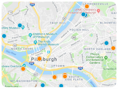 Pittsburgh Area Real Estate Map Search
