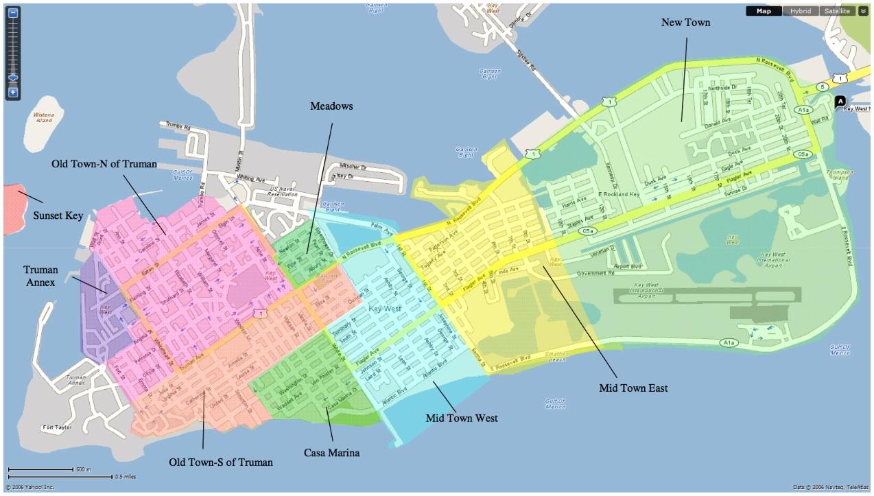 Key West Neighborhood Map