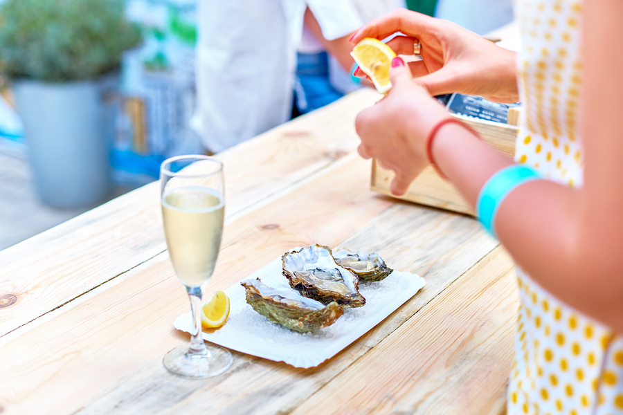 Seafood lovers living in Charleston go to the Oyster Festival.