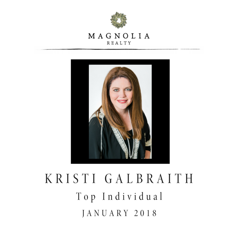 Kristi Sells Texas - Top Individual January 2018
