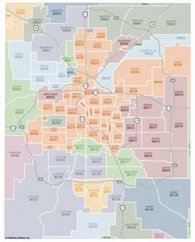 Denver Metro Zip Code Map SW