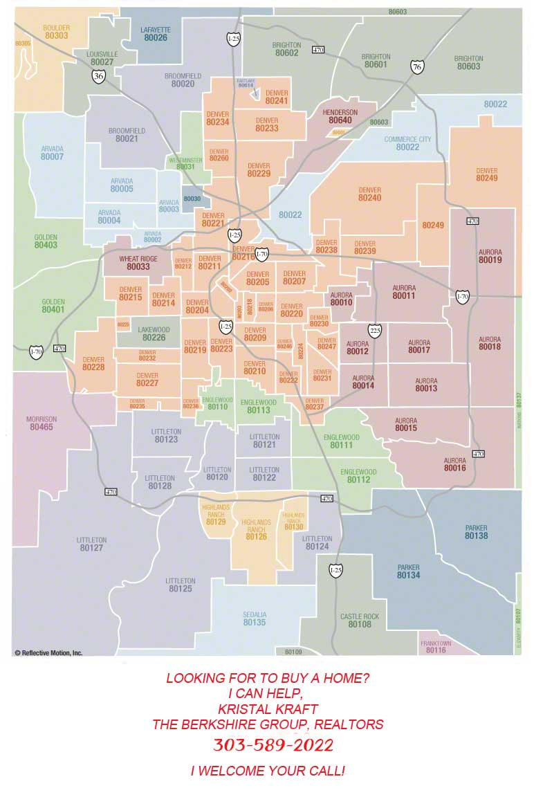 Metro Denver Zip Code Map