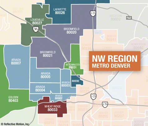 Denver NW Metro Zip Code Map