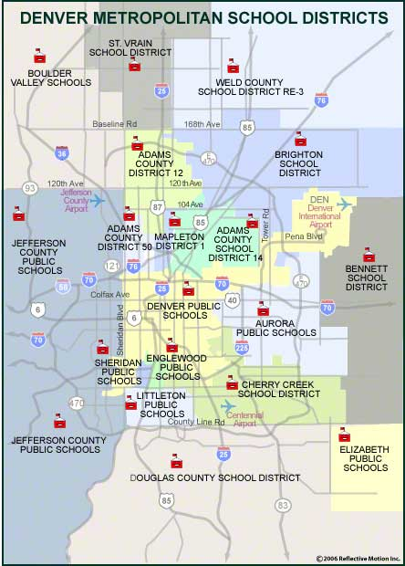 Cherry Creek School District Map Denver Metropolitan School District Map
