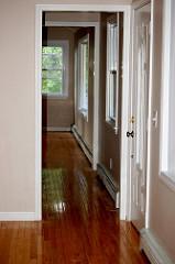 Front door, front hall, home inspection.