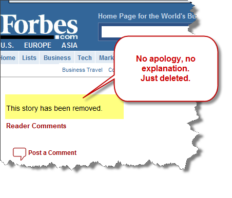 """Forbes sucks at saying """"We're sorry!"""""""
