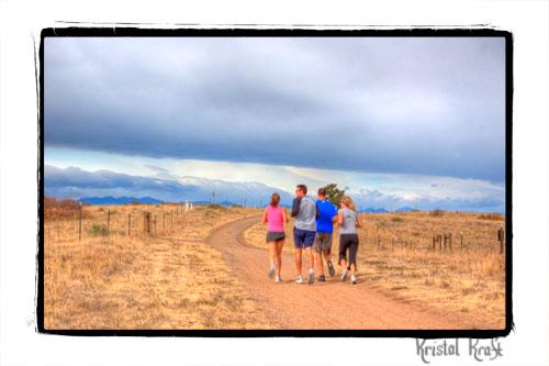 Jogging trail high above Highlands ranch on Highlands Ridge.