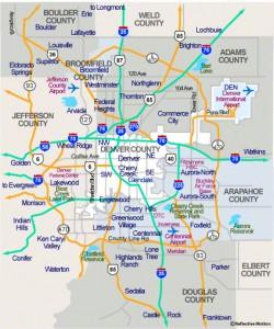 Denver Metro Region Map