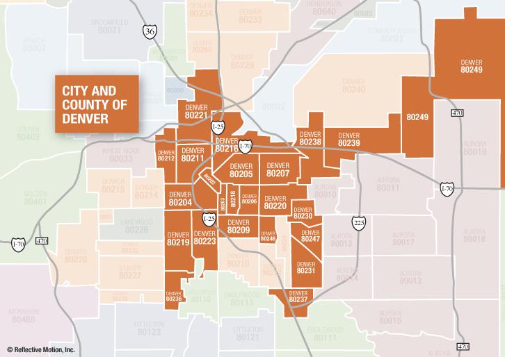 Denver Real Estate Market Reports By Zip Code - Colorado zip code map