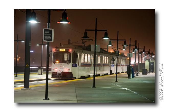 RTD Light Rail at Lincoln Station