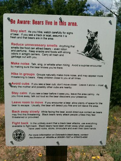 warningsignbears