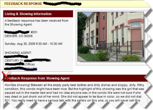 Feed Back Response for Denver Real Estate