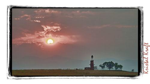 Sunset-Smokey Night in Highlands Ranch