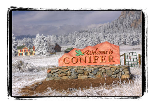 Conifer Welcome Sign