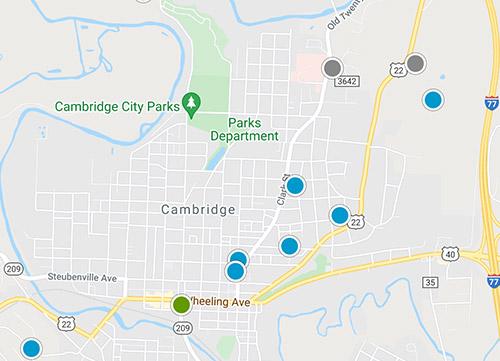 southeast ohio mls map search