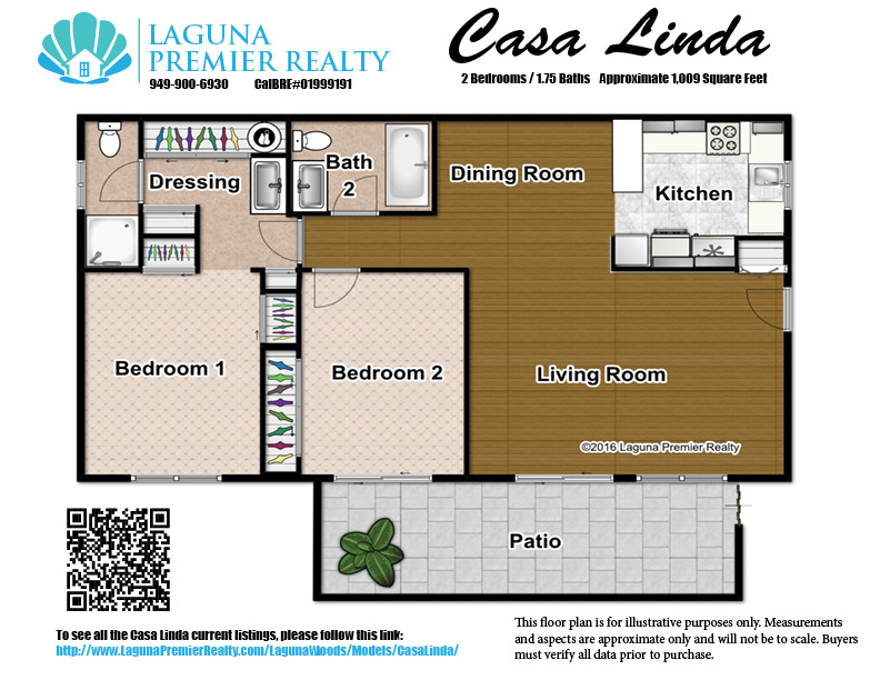 Casa linda model in laguna woods for Floor plans under 200k