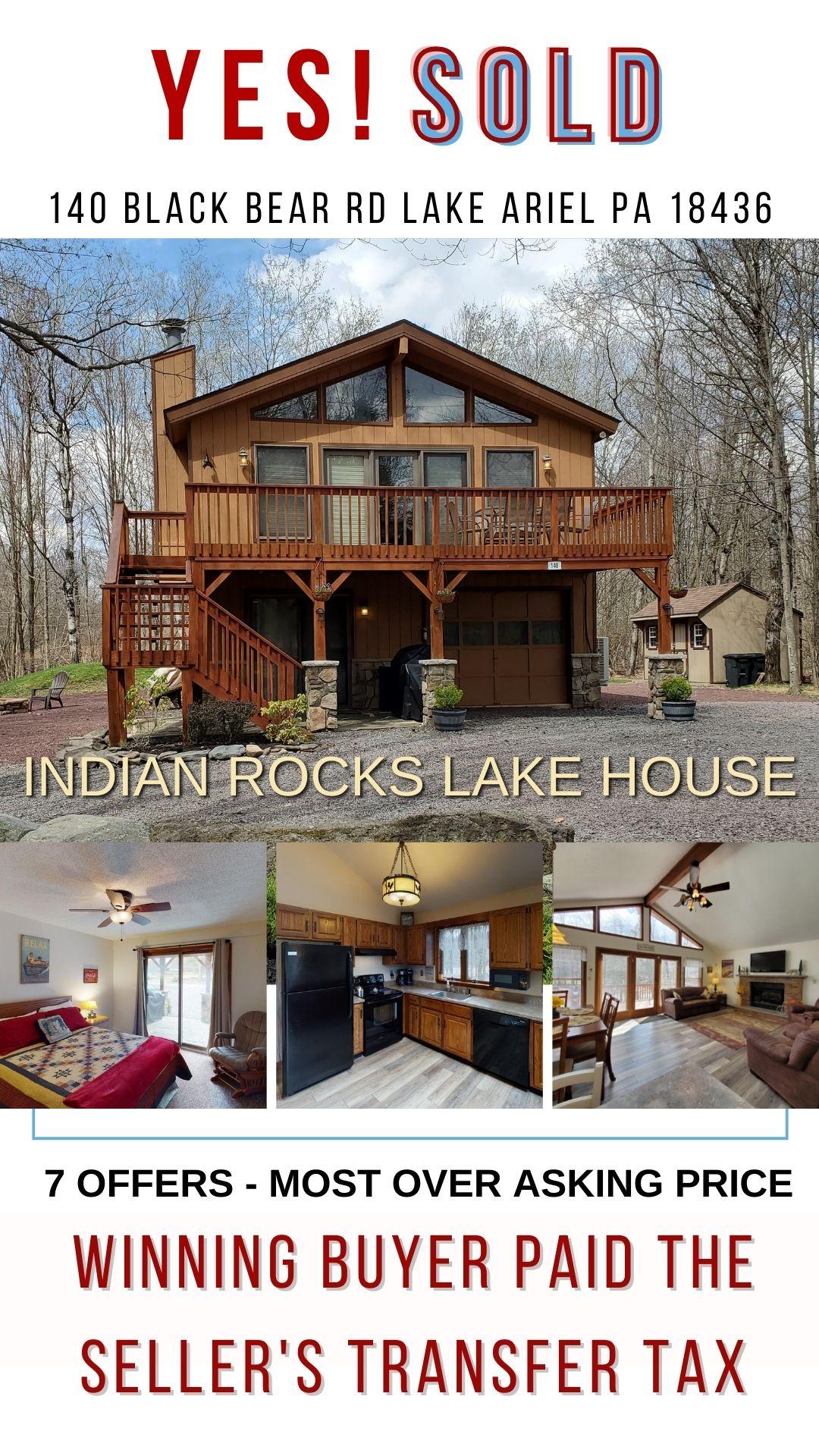 Indian Rocks Lake House Sold Summer 2021