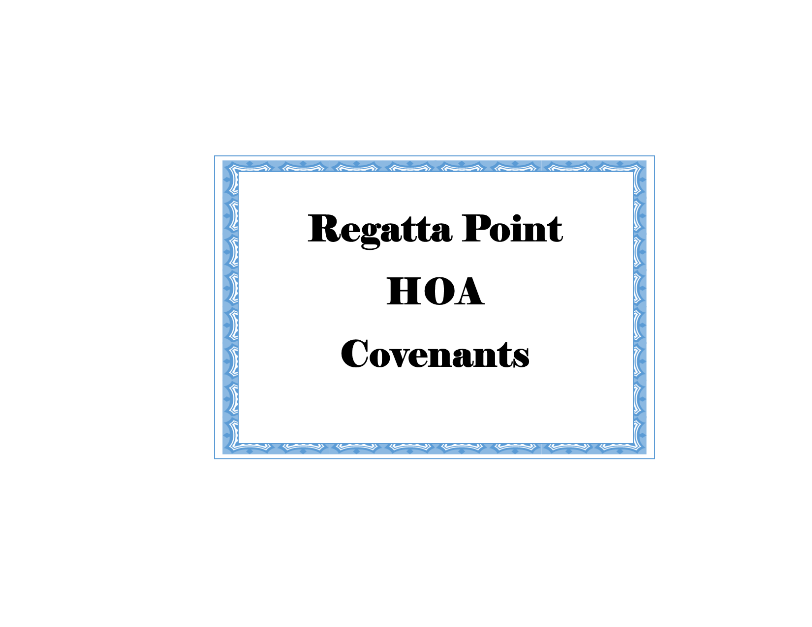 Regatta Point HOA
