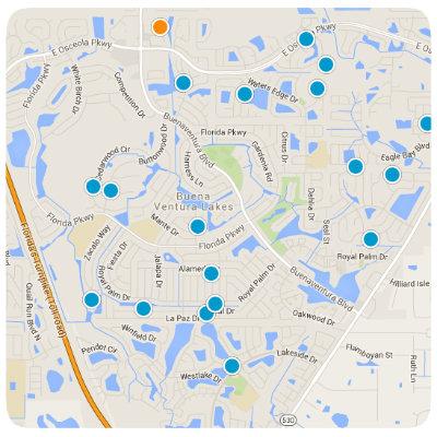 Buena Ventura Lakes Interactive Real Estate Map Search