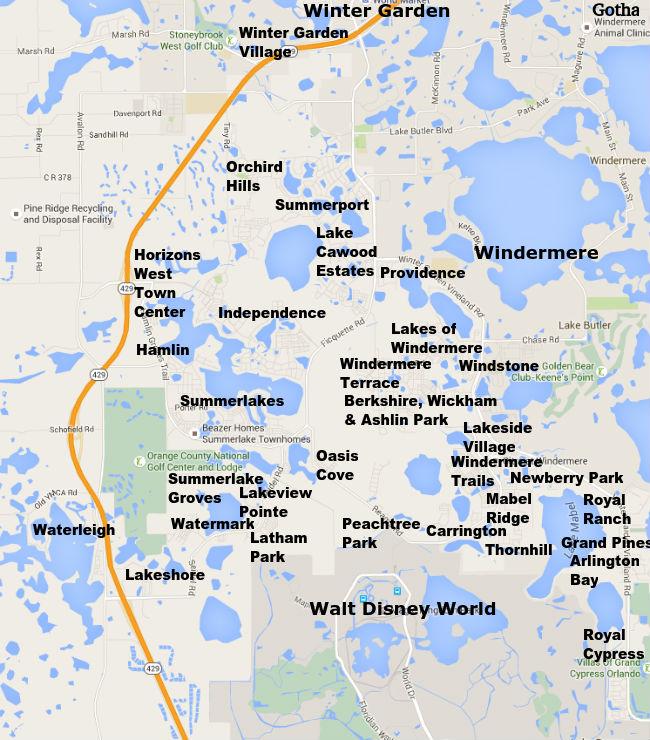 Horizons West Neighborhood Map