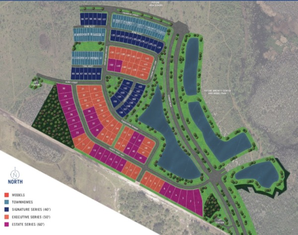 Phase 1 of Meridian Parks Sitemap