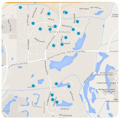 Williamsburg Interactive Real Estate Map Search