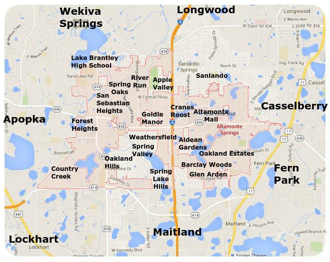 Altamonte Springs Neighborhood Map
