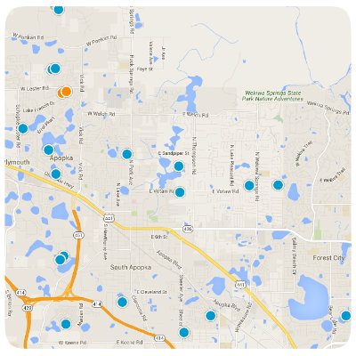 Apopka Interactive Real Estate Map Search