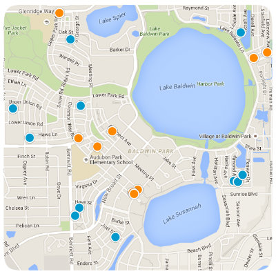Baldwin Park Interactive Real Estate Map Search