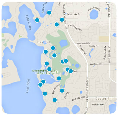 Interactive Bay Hill Map Search of Homes for Sale