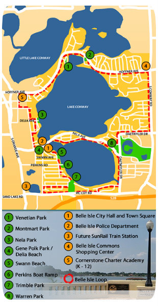 Belle Isle Parks Map