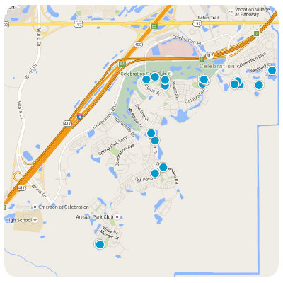 Celebration Interactive Map Home Search