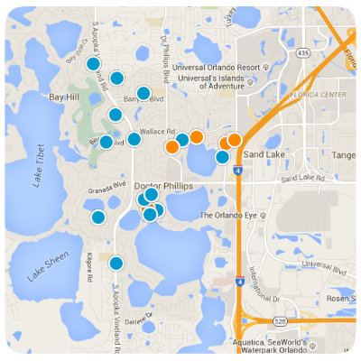 Dr. Phillips Interactive Real Estate Map Search