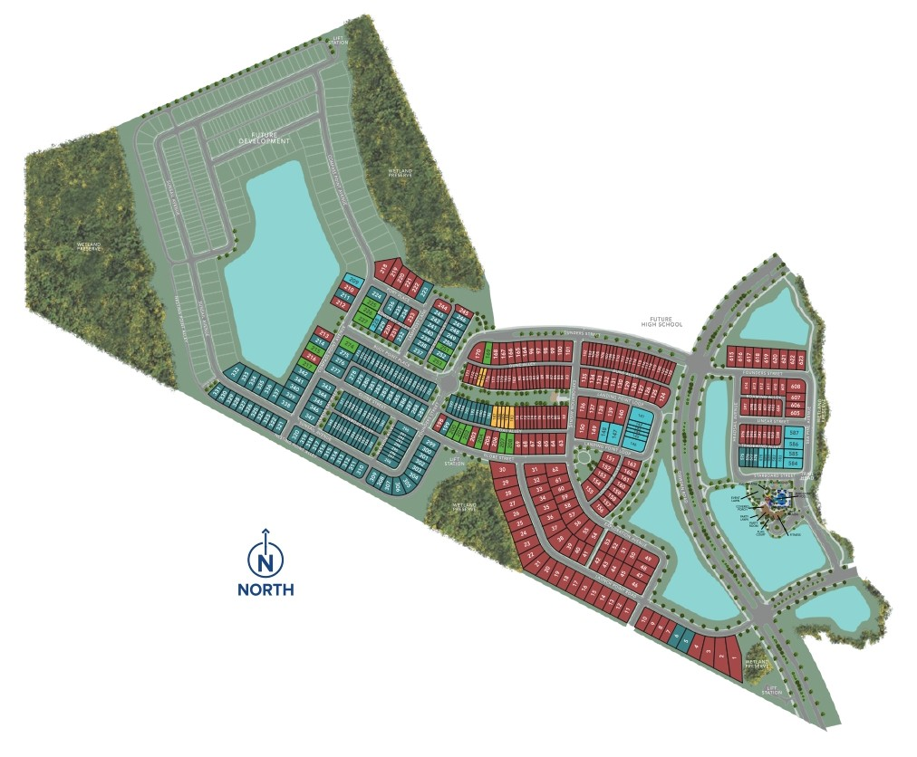 Phase 1 to 3 of Meridian Parks Sitemap