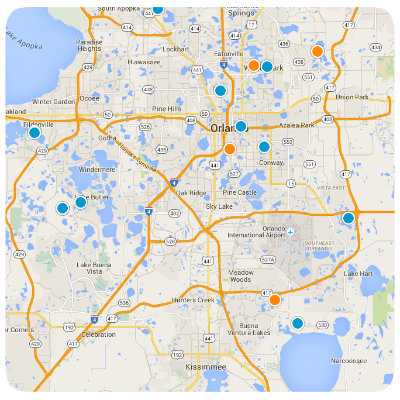 New Construction Interactive Real Estate Map Search