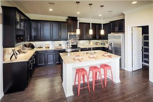 Randal Park Model Home Kitchen in Lake Nona
