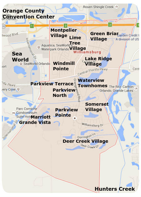Williamsburg Florida neighborhood map