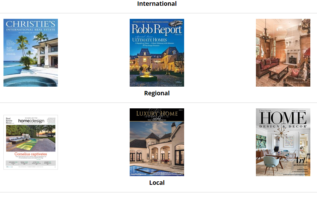 International and Regional print ads